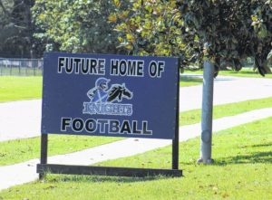 Progress on St. Andrews' football field slow but steady