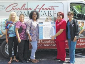 Carolina Hearts collects fans for elderly in Scotland County