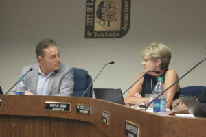 City recording: Council member Mary Jo Adams disclosed 'conflict'